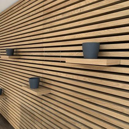 Office dubové obložení stěn